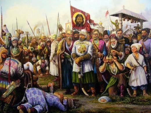 3 ermaksibirkazaki 520x389 В праздник Преображения Господня, мы вспоминаем легендарного казачьего атамана Ермака Тимофеевича, павшего 19 августа (6 авг. ст.ст.)1585 года