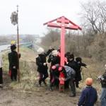 Image for 4 ноября 2013г казаки Клинской сотни МОКО СКР установили Поклонный крест в селе Воронино