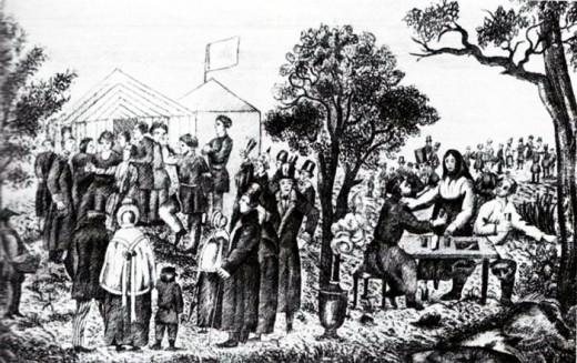 Народное гулянье в Сокольниках 1 мая. Гравюра начала XIX в.