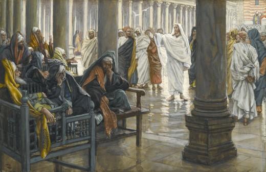 1886-1994_Горе вам, книжники и фарисеи (Malheur a vous, scribes et pharisiens)_17 x 26.4_бумага, акварель по графиту_Нью-Йорк, музей Бруклин
